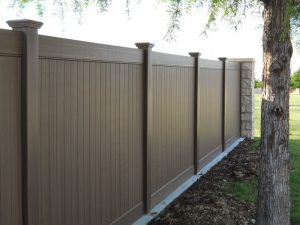 Brown Vinyl Fence Bryan TX