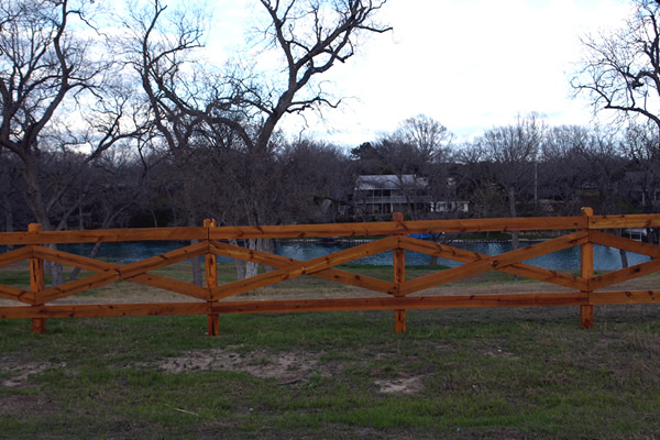 Horse Rail Fence Bryan College Station TX